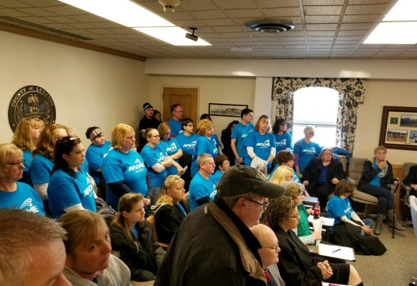 Cedar Haven workers fill Lebanon County Commissioners meeting